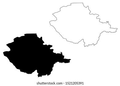 Naryn Region (Kyrgyz Republic, Kirghizia, Regions of Kyrgyzstan) map vector illustration, scribble sketch Naryn map