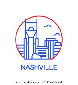Nashville City icon. Vector illustration