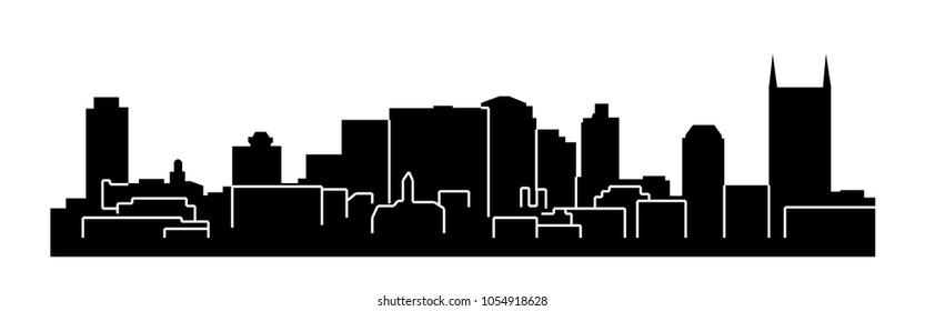 Nashville, Tennessee ( city silhouette )