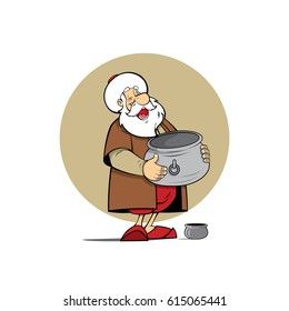 Nasreddin hodja cartoon character illustration