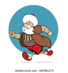 Nasreddin Hodja Character illustration