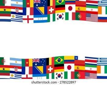 Nation flag banner vector illustration