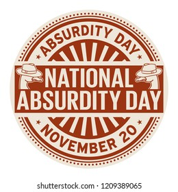 National Absurdity Day, November 20, rubber stamp, vector Illustration