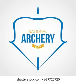 National Archery Day Vector Illustration