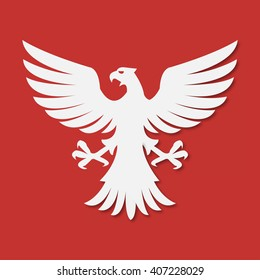 national arms of America Poland  Eagle white red
