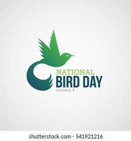 National Bird Day Vector Illustration.