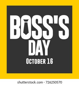 National Boss's Day Logo Vector Template Design