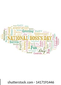 National Boss's Day Word Cloud. Wordcloud Made With Text.