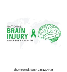 National Brain Injury Awareness Month Vector Illustration. Suitable for greeting card poster and banner