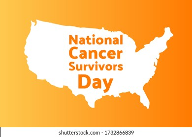 National Cancer Survivors Day. June. Holiday concept. Template for background, banner, card, poster with text inscription. Vector EPS10 illustration