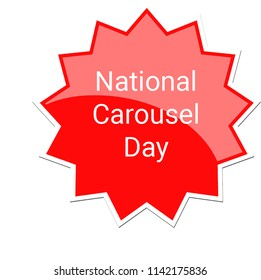 National Carousel Day Label, July 25