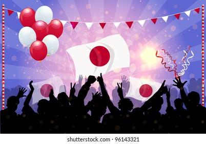 National Celebration Vector Japan