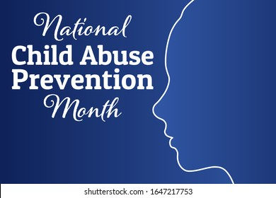National Child Abuse Prevention Month. April. Template for background, banner, card, poster with text inscription. Vector EPS10 illustration