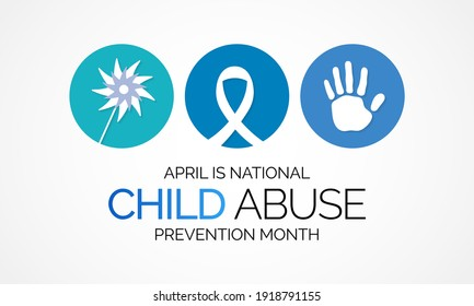 National Child Abuse Prevention Month is an annual observance to raising awareness and preventing child abuse. Vector illustration
