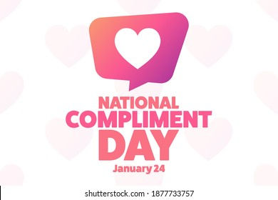 National Compliment Day. January 24. Holiday concept. Template for background, banner, card, poster with text inscription. Vector EPS10 illustration