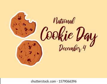 National Cookie Day vector. Chocolate Cookies vector. Biscuit vector. Cookie Day Poster, December 4. American food holiday