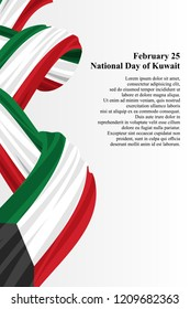 National day of Kuwait vector illustration. Suitable for greeting card, poster and banner.