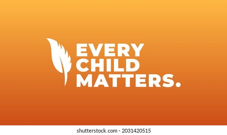 national day of truth and reconciliation, every child matters modern creative banner, design concept, social media post with white text on an orange background