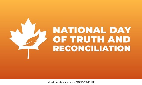 national day of truth and reconciliation modern creative banner, design concept, social media post with white text on an orange background  - Shutterstock ID 2031424181