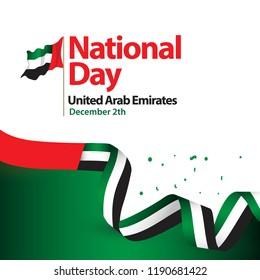 National Day United Arab Emirates Vector Template Design Illustration