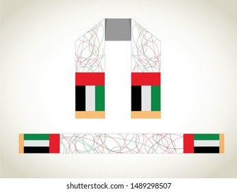 National Day written in arabic calligraphy vector best use for UAE 48 national day. UAE National day Celebrations scarf design.