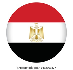 National Egypt flag official colors and proportion correctly. National Egypt flag  Vector illustration. EPS10. Egypt flag vector icon, simple, flat design for web or mobile app.