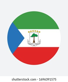 National Equatorial Guinea flag, official colors and proportion correctly. National Equatorial Guinea  flag. Vector illustration. EPS10. Equatorial Guinea flag vector icon, simple, flat design