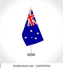 National fabric vector flag of Australia isolated on white background.