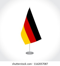 National fabric vector flag of Germany isolated on white background.