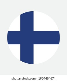 National Finland flag, official colors and proportion correctly. National Finland flag. Vector illustration. EPS10. Finland flag vector icon, simple, flat design for web or mobile app.