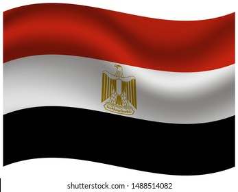 National flag of Arab Republic of Egypt. original colors and proportion. Simply vector illustration eps10, from countries flag set.