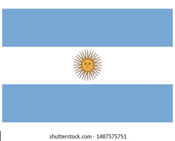 National flag of Argentine Republic. original colors and proportion. Simply vector illustration, from countries flag set.