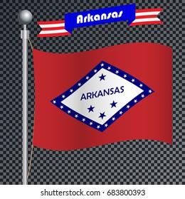 National flag of Arkansas