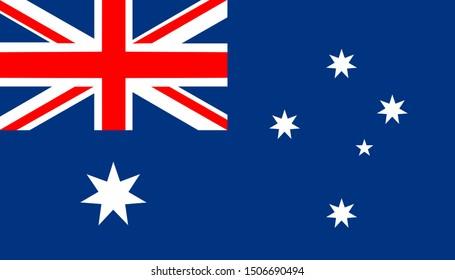 The national flag of australia.