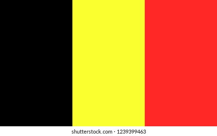 The national flag of the BELGIUM. Official Belgium flag of the country of the European Union. Vector icon flag for background, web site design, logo.Original banner of country.Vector illustration.EPS