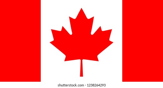 National flag of Canada in the original size and colour