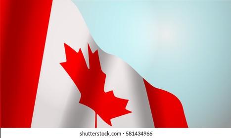national flag of Canada waving