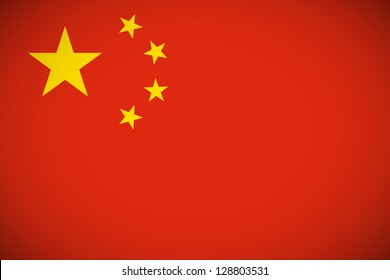 National flag of China with correct proportions and color scheme