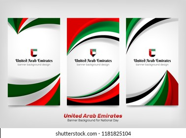 National Flag Color of United Arab Emirates Background Concept for Independence Day and other events, Vector Illustration Design