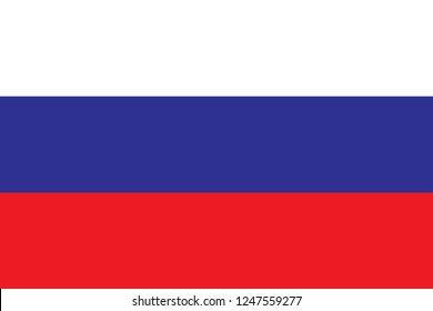 National flag correctly designed to specifications, Russia