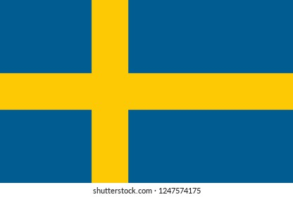 National flag correctly designed to specifications, Sweden
