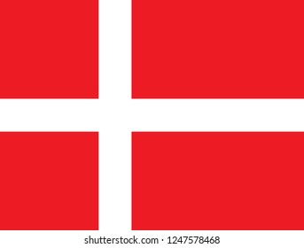National flag correctly designed to specifications, Denmark