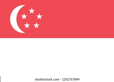National flag correctly designed to specifications, Singapore