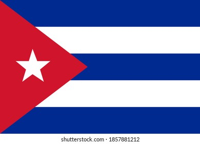 The National Flag of Cuban. Cuban Flag Template Vector Illustration