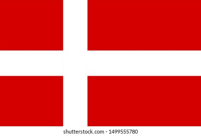 The national flag of denmark.