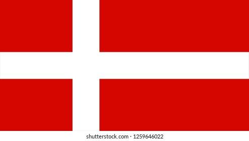 National flag of Denmark in the original size