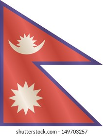 National flag of the Federal Democratic Republic of Nepal.