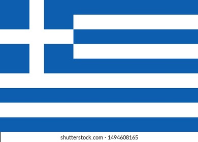 national flag of Greece in the original colours and proportions