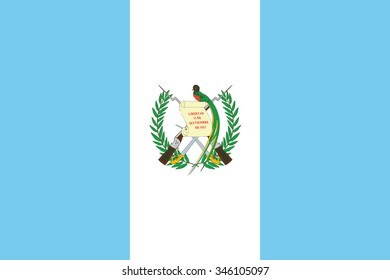 National flag of Guatemala with correct proportions, element, colors for education books and official documentation