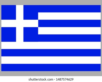 National flag of Hellenic Republic also know as Greece . original colors and proportion. Simply vector illustration, from countries flag set.